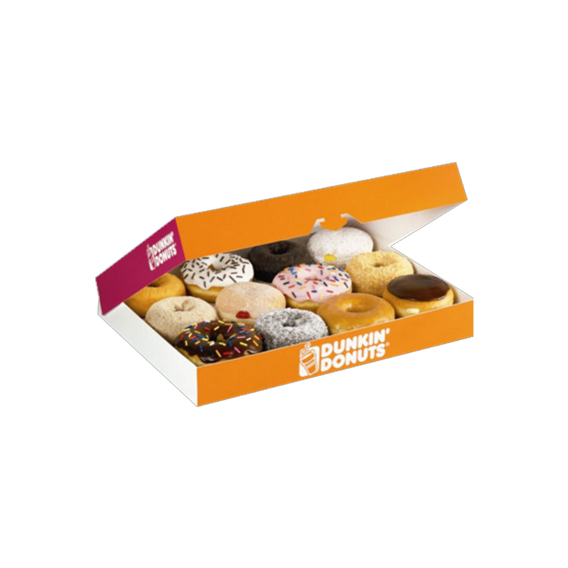 custom the small dunkin donuts box of donuts packaging from CHINA