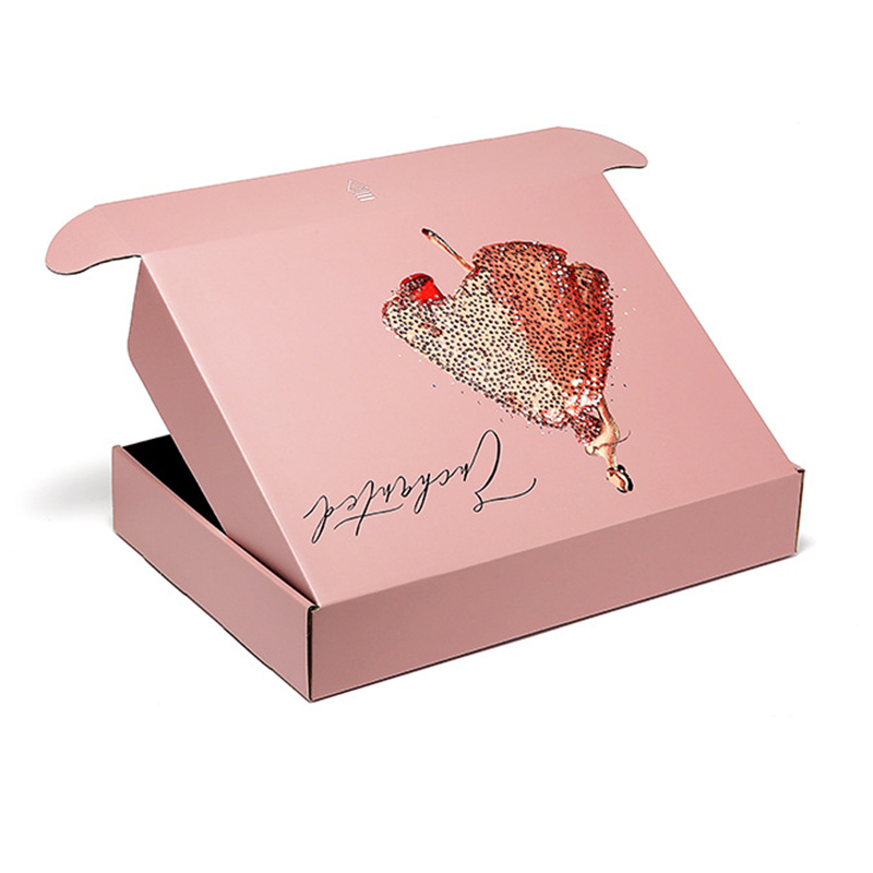 Custom pink mailer box wholesale corrugated box companies near me