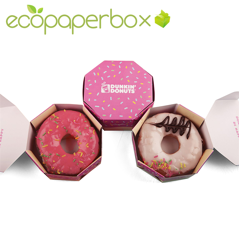 Custom single donut packaging doughnut favor boxes supplies